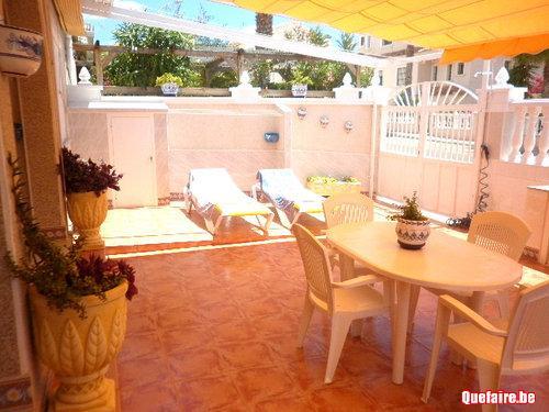 Terrasse Spacieuse : Terrasse spacieuse de cette maisonnette proche plages