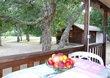 Loue en Corse, chalet sur camping calme rivière...