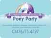 Pony Party.un poney chez vous pour une fête